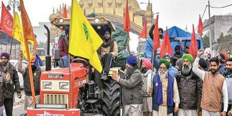 Farmers take out a tractor rally in Amritsar on Saturday