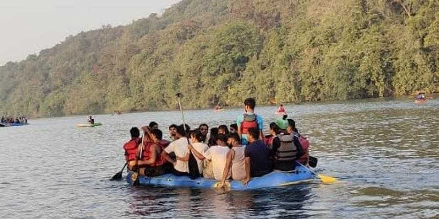 Nearly 10,000 tourists are gathering along the Kali for watersports during weekends