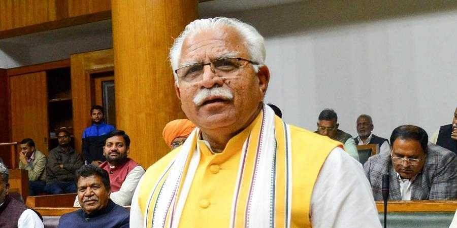 Haryana Chief Minister M L Khattar on Sunday gave a cheque of Rs 5.10 lakh to Sri Rama Janmabhoomi Teerth Kshetra for the construction of Ram Temple in Ayodhya.1