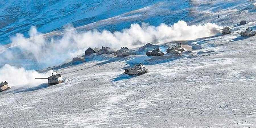 armoured vehicles start moving as part of disengagement in the Pangong Tsu  