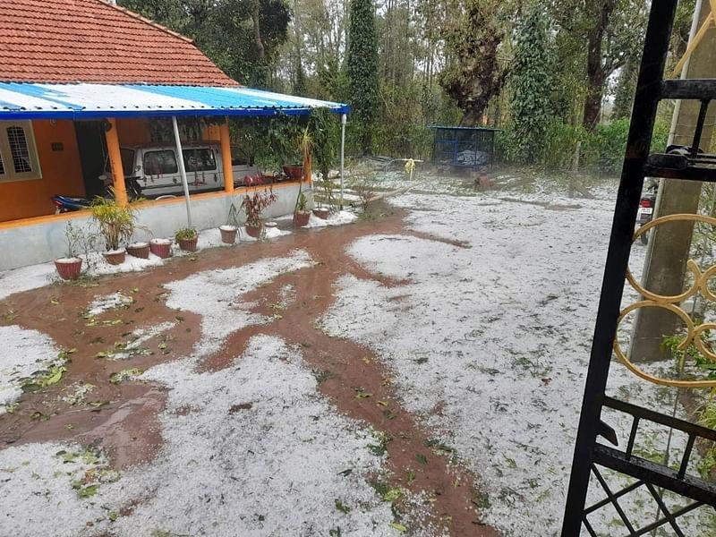 hailstones-Rain