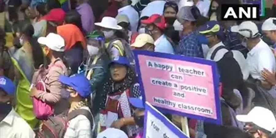 Private school protest