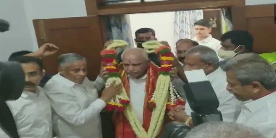 Ministers and leaders facilitated CM B S Yedyurappa