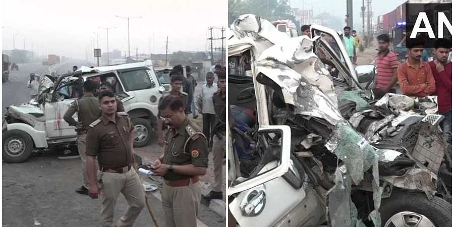 Car accident in Agra