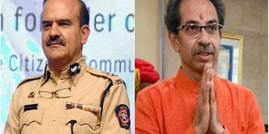 Mumbai Police Commissioner Param Bir Singh (L) and Maharashtra CM Uddhav Thackeray.