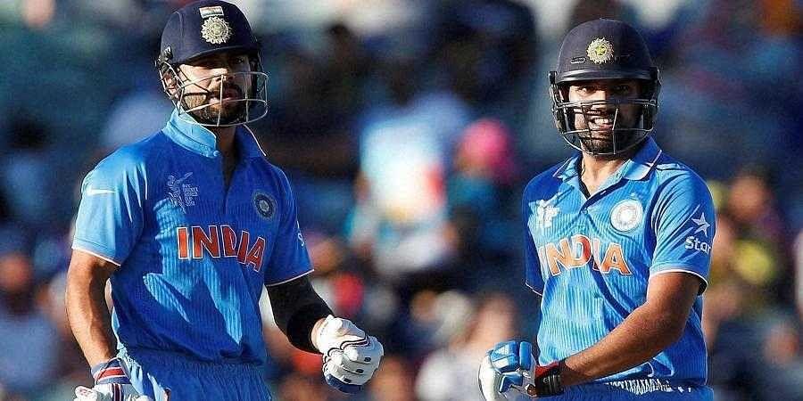 India captain Virat Kohli (L) and senior batsman Rohit Sharma (Photo | PTI)