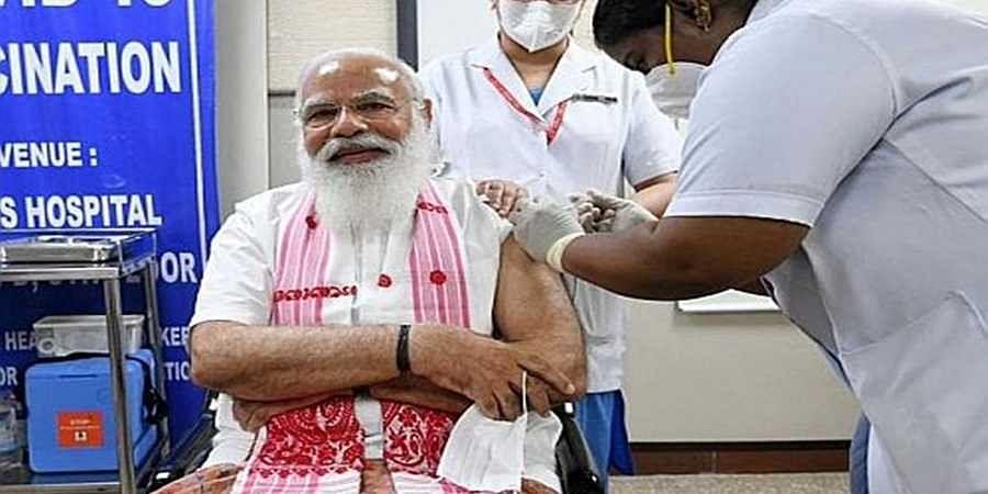 PM_Modi_Covid-19_Vaccinated1