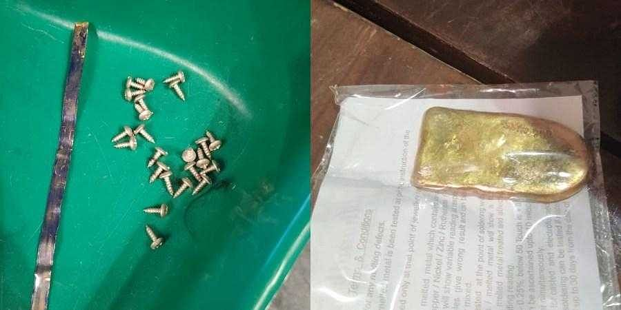 For the second day in a row, Dubai flyer smuggles in gold-coated screws and rods at Bengaluru Airport