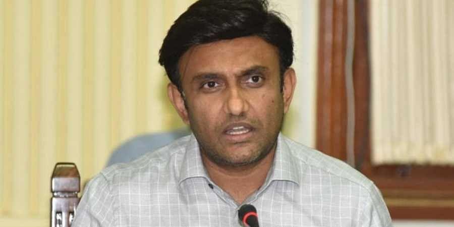 Health minister Dr K Sudhakar