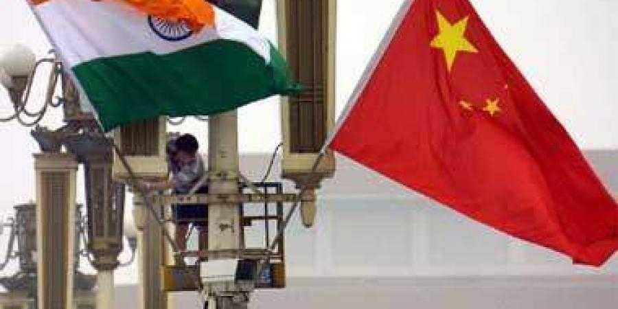 Visual of Indian and Chinese flag used for representational purposes. (File | AFP)