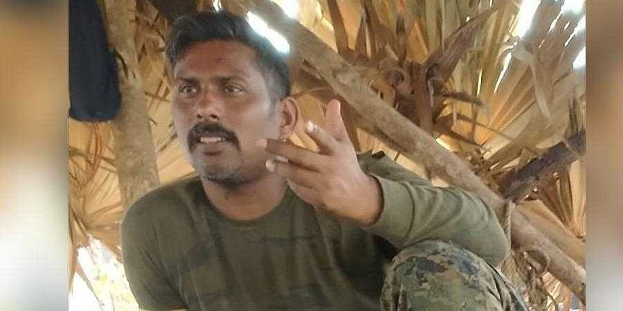 Picture of abducted CoBRA jawan released by Maoists.