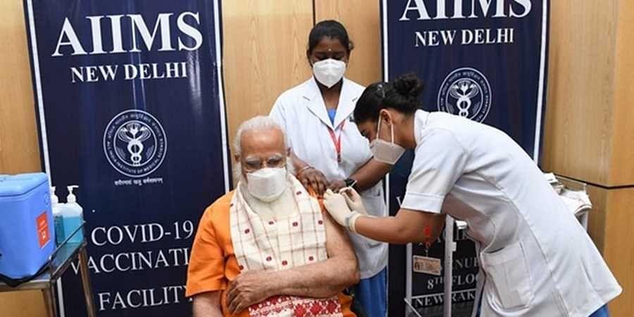 PM Modi receives 2nd dose of Covid vaccine at AIIMS, Delhi