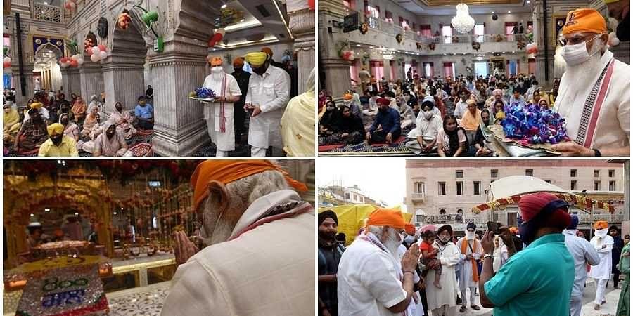PM Modi at Gurudwar in Delhi