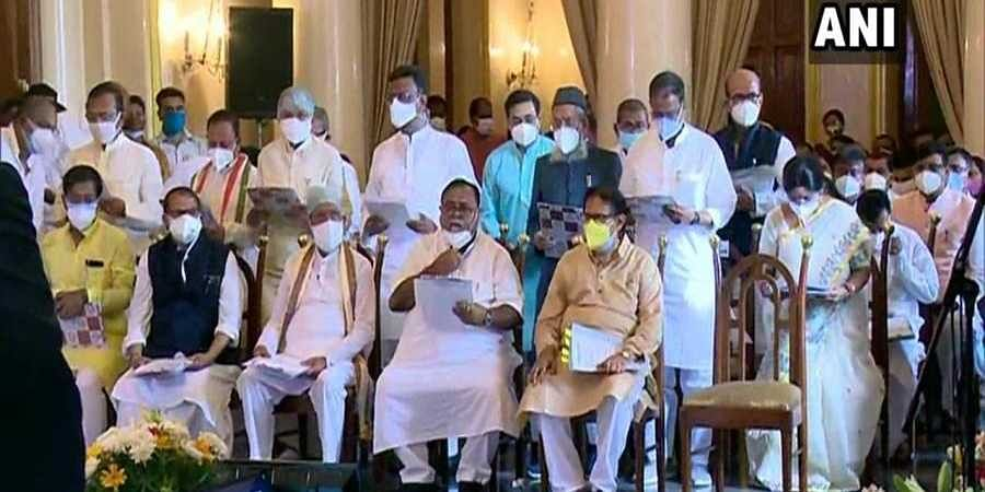 TMC leaders sworn in as ministers in Mamata's Cabinet.