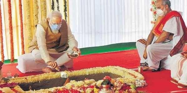 ಸೆಂಟ್ರಲ್ ವಿಸ್ಟಾ ಯೋಜನೆಗೆ ಚಾಲನೆ ನೀಡಿದ್ದ ಪ್ರಧಾನಿ ಮೋದಿಯ ಚಿತ್ರ