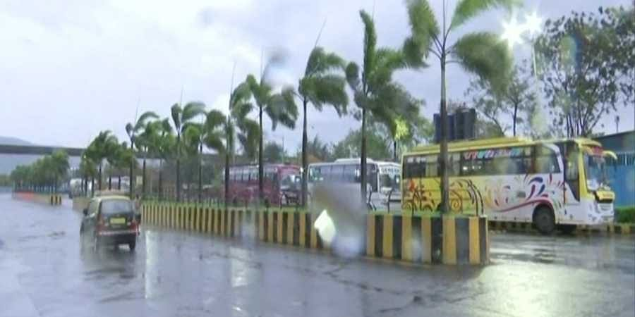 Light spell of rain and gusty winds seen in in view of Cyclone Tauktae; early morning visuals from Wadala area of Mumbai