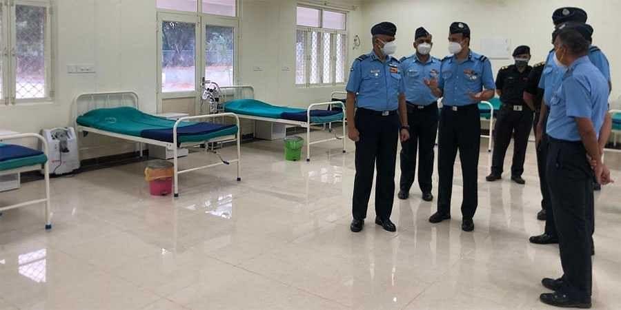 COVID care facility at Air Force Station Jalahalli