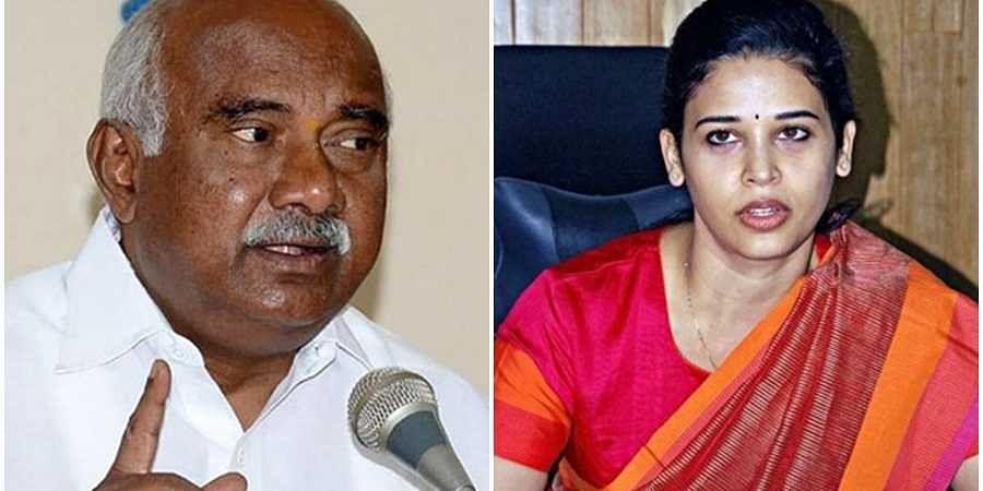 H Vishwanath and Rohini Sindhuri(File photo)